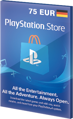75 EUR PlayStation Network Card PSN Gift Key DE za darmo