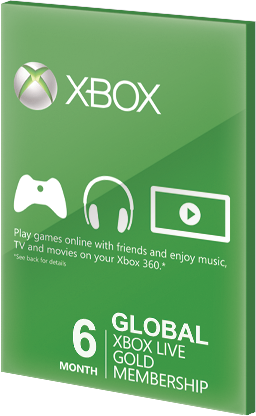 Xbox Live GOLD Subscription Card 6 Months Global za darmo
